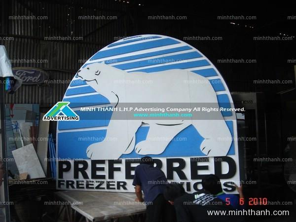 logo Xốp Antara cho gian hàng hội chợ