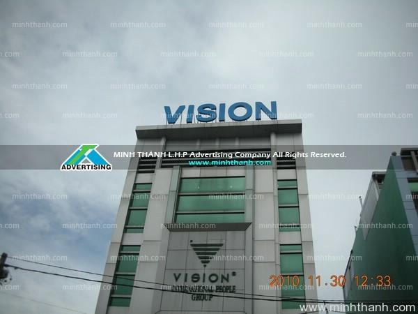 VISION building dimensional letters