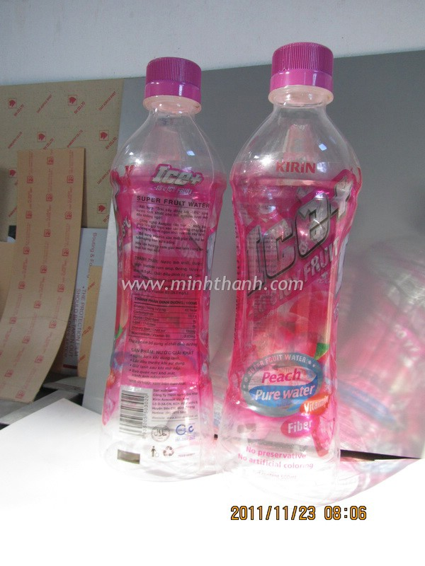 Ice+ water bottle model /mockup - Công ty quảng cáo Minh