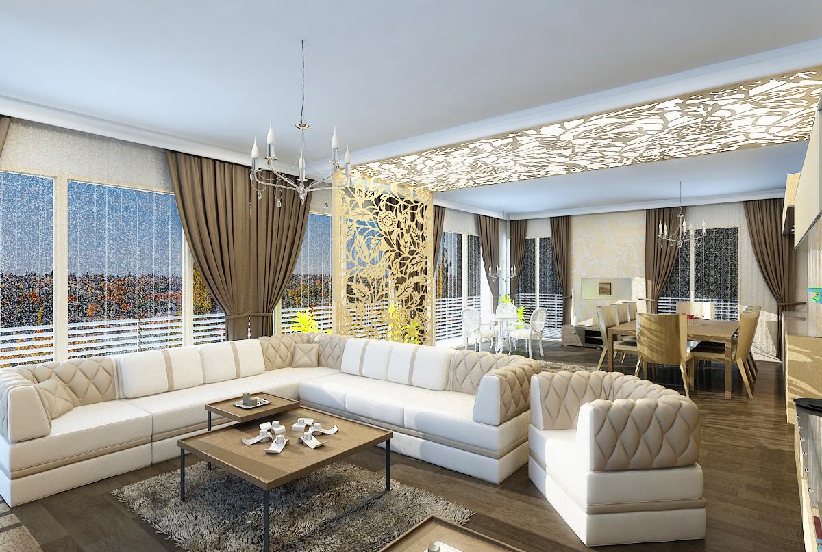 Phong cách trang trí nội thất nhà Villa sang trọng