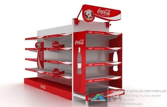 Mẫu kệ trưng bày Coca-Cola