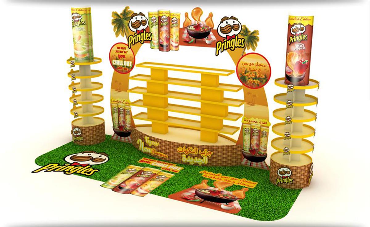POSM trưng bày sản phẩm Pringles