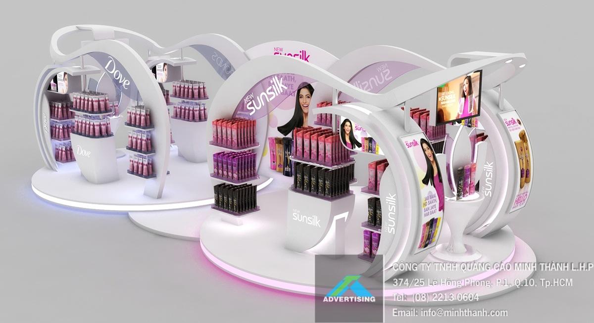 Booth trưng bày sản phẩm của Unilever