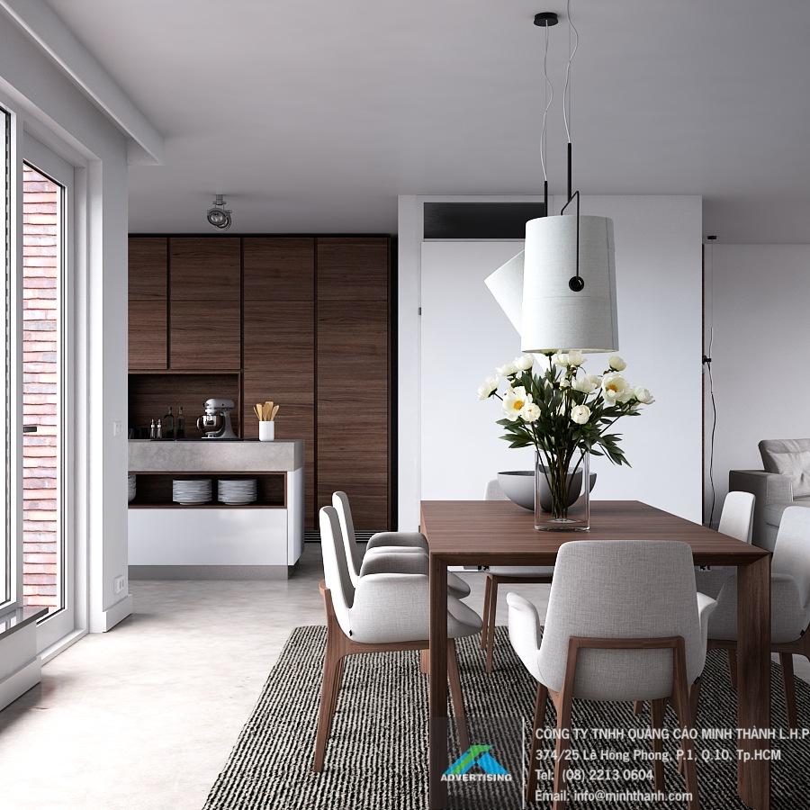 Nội thất phòng ăn bếp hiện đại