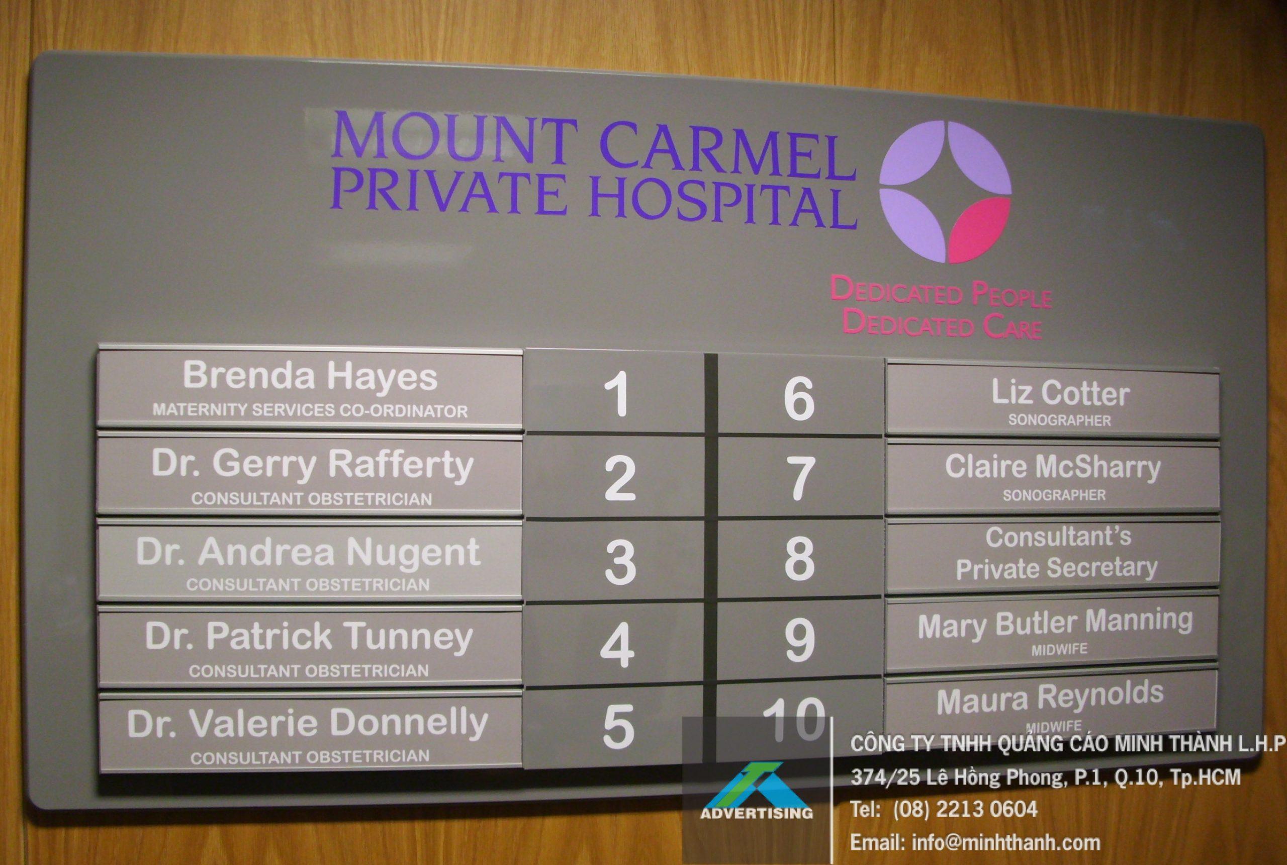 Mẫu Bảng hiệu hướng dẫn tại bệnh viện (2)