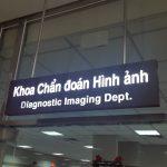 Thi công bảng hướng dẫn phòng bang bệnh viện Đại Học Y Dược