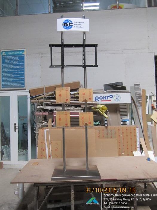 Sản xuất chân inox treo tivi / màn hình