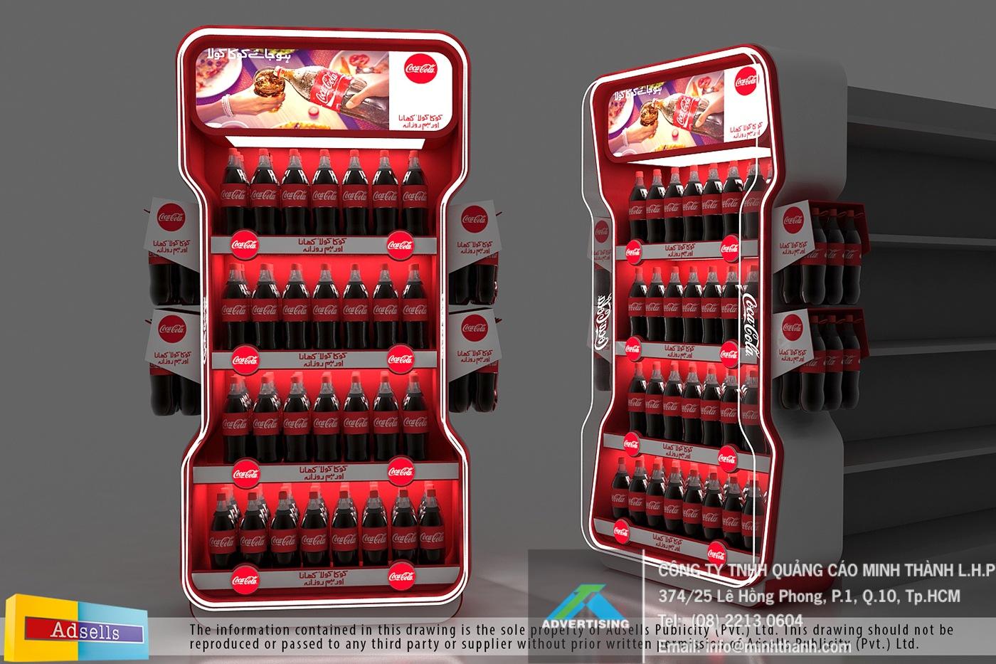 Mẫu kệ trưng bày Coke