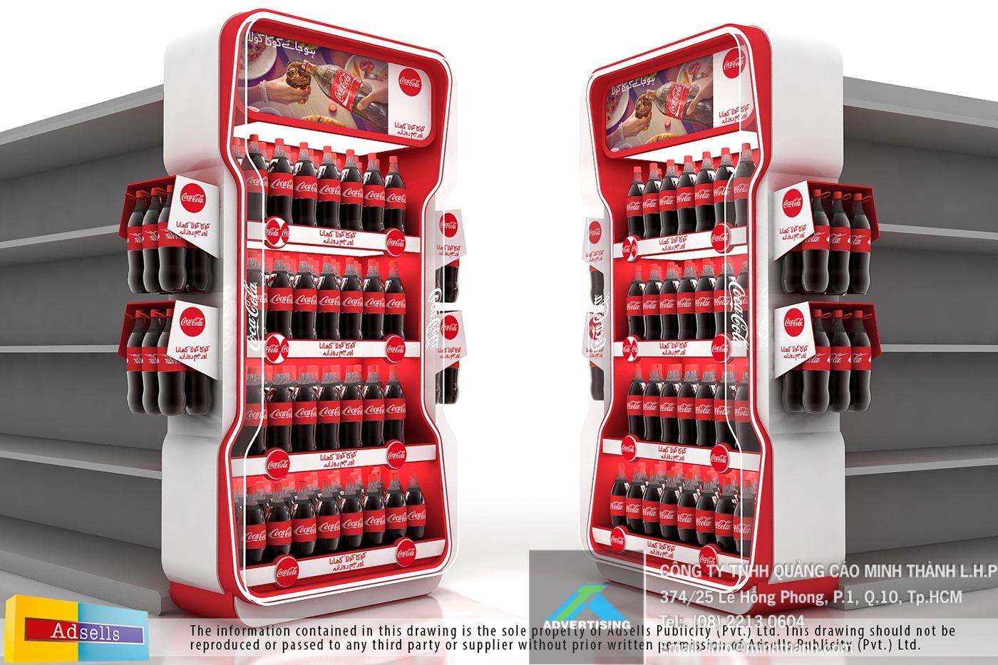Mẫu kệ trưng bày sản phẩm Coke (phần 1)