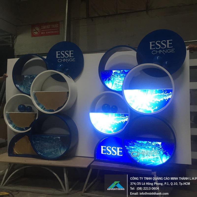 Sản xuất kệ trưng bày sản phẩm ESSE Change