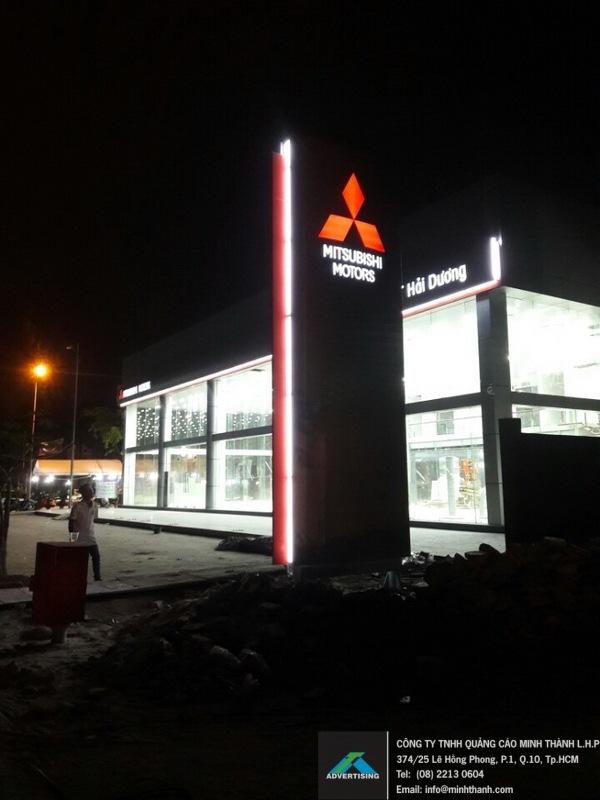 Sản xuất & thi công bảng hiệu Alu cao cấp Mitsubishi Motors Hải Dương