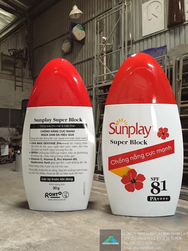 Sản xuất mô hình sản phẩm chai sunplay 2016