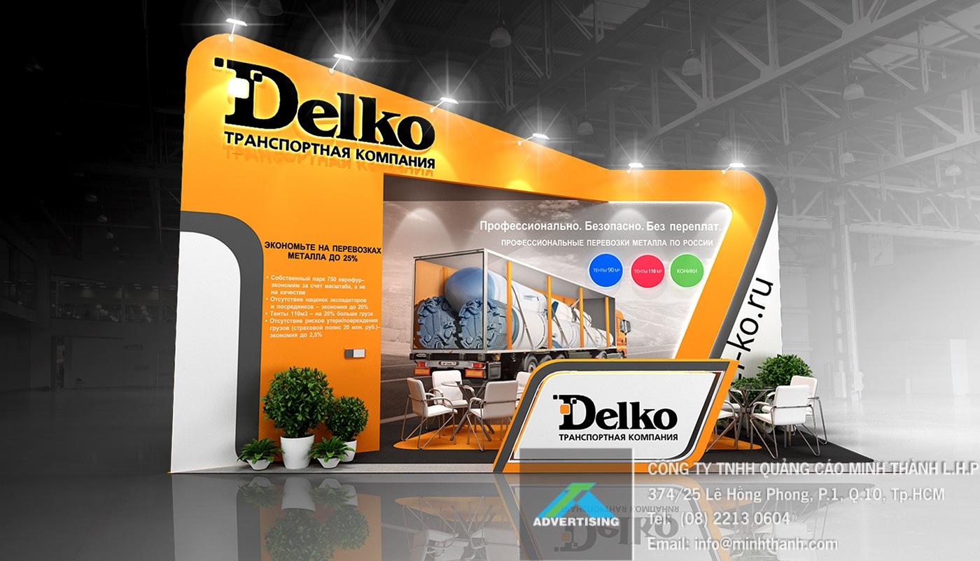 Mẫu gian hàng Delko
