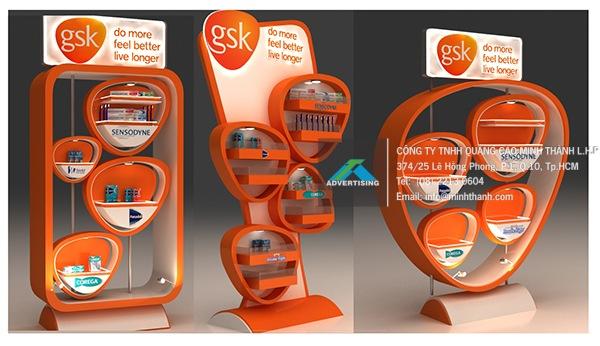 Mẫu kệ trưng bày GSK