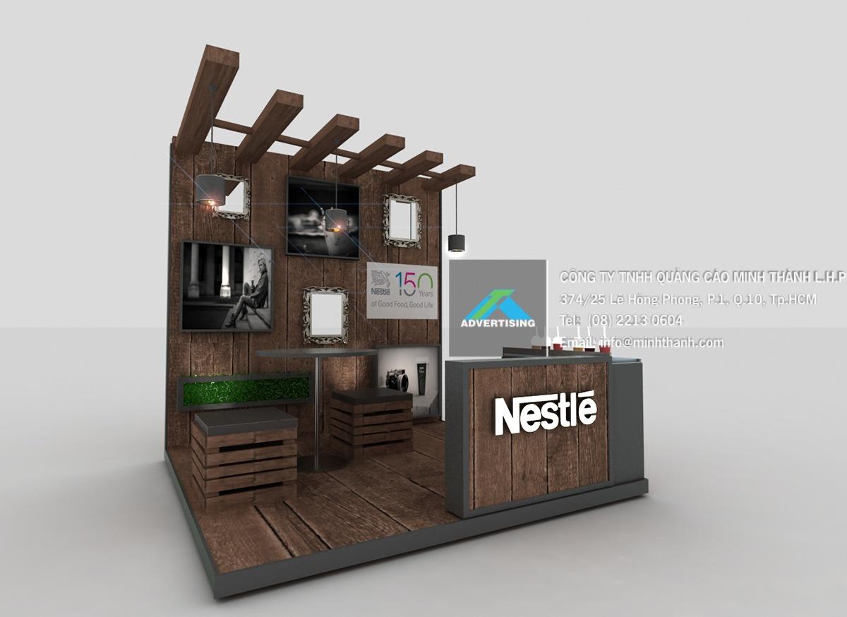 Mẫu booth cafe trong TTTM