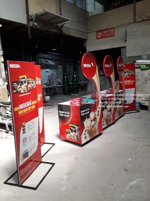 Sản xuất quầy trải nghiệm sản phẩm NesCafe