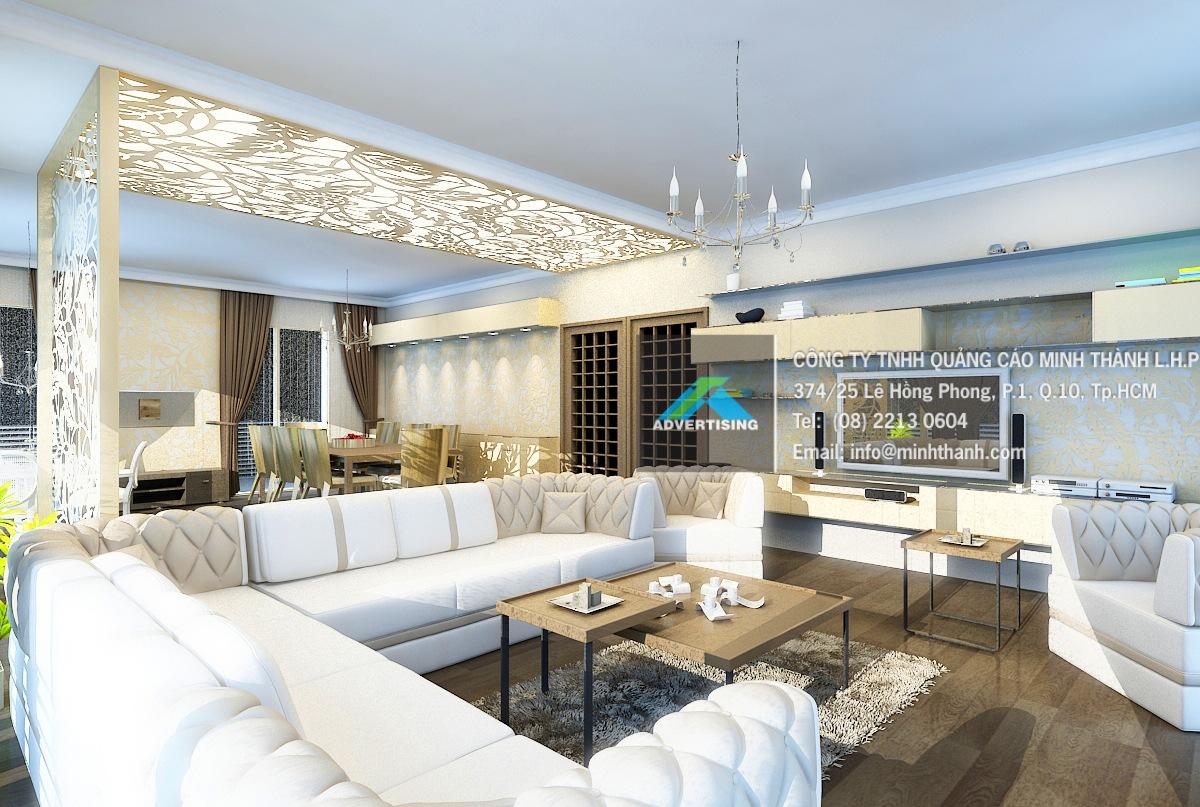 Phong cách trang trí nội thất Quảng cáo Minh Thành L.H.P